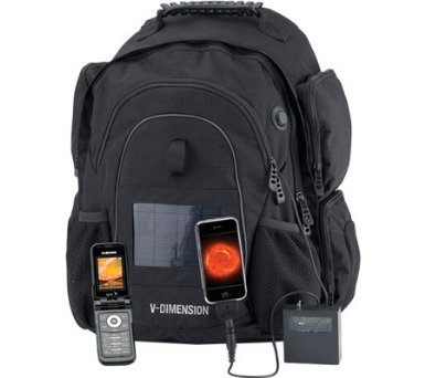 V Dimension Helius Solar Powered Backpack