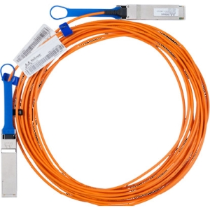 Mellanox InfiniBand Fiber Optic Network Cable - Fiber Optic for Network Device - 32.81 ft - 1 x SFF-8436 QSFP - 1 x SFF-8436 QSFP