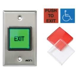 EXIT BUTTON ILLUMINATED 972IX ESXMOX32D