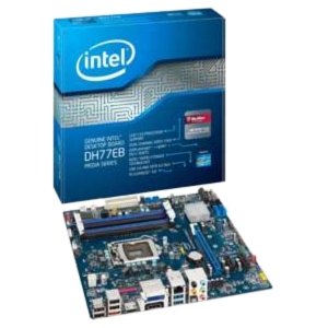 Intel Media DH77EB Desktop Motherboard - Intel H77 Express Chipset - Socket H2 LGA-1155 - 1 Pack - Micro ATX - 1 x Processor Support - 32 GB DDR3 SDRAM Maximum RAM - Serial ATA/300, Serial ATA/600 RAID Supported Controller - CPU Dependent Video - 1 x PCIe