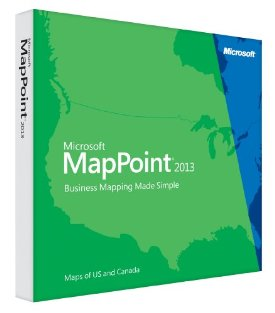 MapPoint 2013 MAP POINT 2013 32BIT AE NORTH AMERICA MAPS DVD