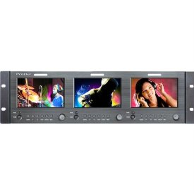5 TRIPLE LCD MONITOR RACK MT PROFESSIONAL FOR 3RU RACK INSTALL