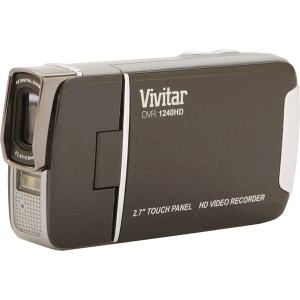 Vivitar DVR1240HD-BLK 12mp 2.7 Screen 4x Zoom Digital Camcorder-Black DVR1240HDBLK