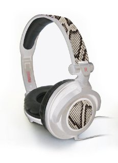 AMPLIFIED HEAVY BASS HEADPHONE WHITE PYTHON