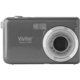 Vivitar Vivicam VX327 10.1MP 3X 2.7in LCD Digital Camera Silver