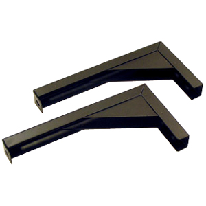 "Elite Screens ZVMAXLB12-B 12"" Extended Wall/Ceiling L Brackets - Black"