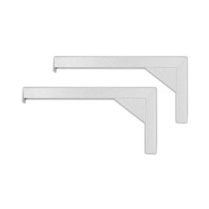 "Elite Screens ZVMAXLB12-W 12"" Extended Wall/Ceiling L Brackets - White"