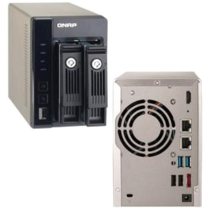 2BAY NAS TOWER SATA3 USB 3.0 INTEL D2700 2.13GHZ D-CORE 1GB RAM