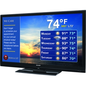 "Sharp AQUOS LB-T422U 42"" 1080p LED-LCD TV - 16:9 - HDTV 1080p - ATSC - 176° / 176° - 1920 x 1080 - 4 x HDMI - Ethernet - Media Player"