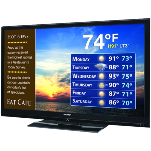 "Sharp AQUOS LB-T462U 46"" 1080p LED-LCD TV - 16:9 - HDTV 1080p - ATSC - 176° / 176° - 1920 x 1080 - 4 x HDMI - USB - Ethernet - Media Player"
