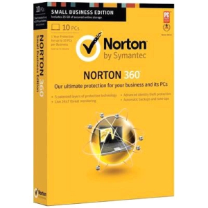 Norton 360 2013 Small Office Pack - Subscription Package - 10 User - Standard - 1 Year - PC - Retail - CD-ROM - English