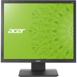 "Acer V173 17"" CCFL LCD Monitor - 4:3 - 5 ms - Adjustable Display Angle - 1280 x 1024 - 16.7 Million Colors - 250 Nit - 20,000:1 - VGA - Black - TCO '03, EPEAT Silver, Energy Star"