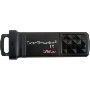 Kingston DataTraveler 111 32 GB USB 3.0 Flash Drive - Black - 1 Pack