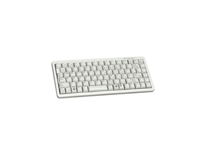 "11"" Ultra-Slim Keyboard with 86 Position Key Layout and USB and PS/2 Connectors - Light Gray"