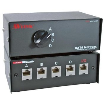 QVS 4PORT CAT5 RJ45 PREMIUM MANUAL SWITCH