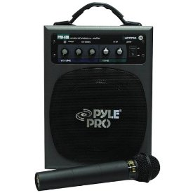 PYLE 100 WATT WIRELESS BATT OP PA SYSTEM