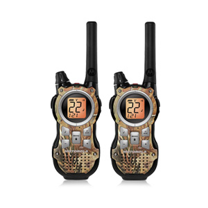 Motorola MR355R 35-Mile Range 22-Channel FRS/GMRS Two-Way Radio (Pair)