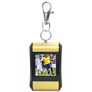 "TAO 1.5"" Digital Photo Key Chain Clip (Holds 100 Pictures) Yellow"