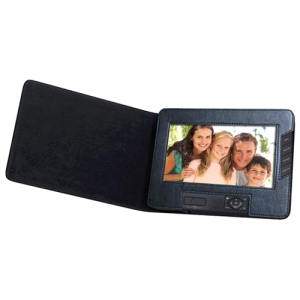 "Sungale Digital Frame - 7"" LCD Digital Frame - 800 x 480 - Cable - BMP, JPEG - Slideshow - Built-in 512 MB - USB - Portable"