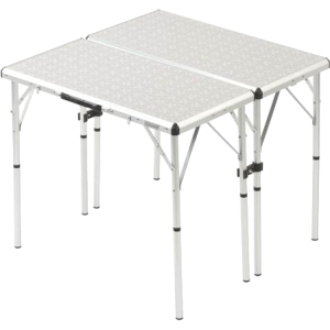 "Coleman Pack-Away Outdoor 4-in-1 Table - Rectangle - 4 Legs - 15.50"" x 31.50"" x 32.0"" - Medium Density Fiber (MDF), Aluminum"