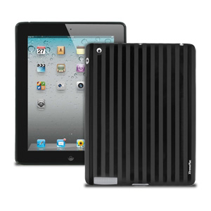 XtremeMac Tuffwrap Shine Case for iPad 2 & iPad 3 (Black Stripe)