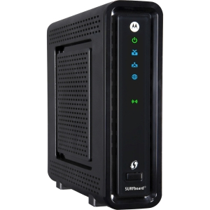 Motorola SURFboard SBG6560 IEEE 802.11n  Modem/Wireless Router - 2.40 GHz ISM Band - 5 GHz UNII Band - 54 Mbps Wireless Speed - 4 x Network Port - Gigabit Ethernet Desktop