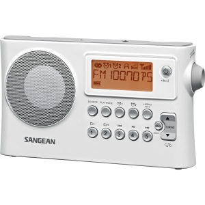 Sangean Desktop Clock Radio - 2 x Alarm - FM, AM, MW - Preset Snooze - Manual Wake-up Timer