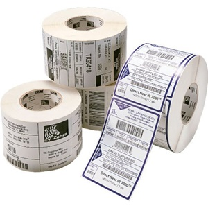 "Zebra Tag Paper 4 x 3in Direct Thermal Zebra Z-Select 4000D 7.5 mil 1 in core - 4"" Width x 3"" Length - 730/Roll - 4 / Roll - White"