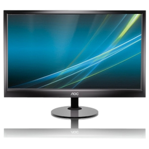 "AOC E2351F 23"" LED LCD Monitor - 16:9 - 5 ms - Adjustable Display Angle - 1920 x 1080 - 16.7 Million Colors - 250 Nit - 20,000,000:1 - DVI - VGA - Black"