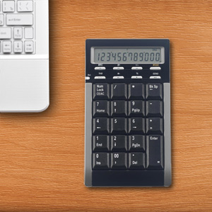 Ortek Bluetooth Multi-Function Wireless Keypad, Calculator & Media Control  - WKP-3000 (Batteries Not Included)