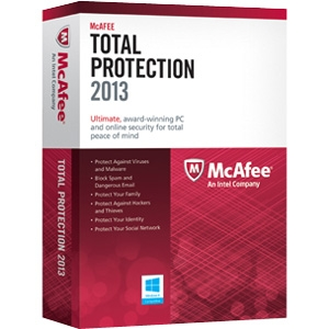 McAfee Total Protection 2013 for 3 PCs