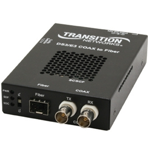 Transition Networks SCSCF3017-110 Media Converter - 1 x SC Network, 2 x BNC Network - T3/E3 - External