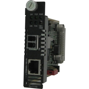 Perle CM-1110-M2LC05 Gigabit Ethernet Media Converter - 1 x RJ-45 Network, 1 x LC Duplex Network - 10/100/1000Base-T, 1000Base-SX - Internal