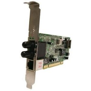Transition Networks Fast Ethernet Dual Media Network Interface Card - PCI - 1 x SC , 1 x RJ-45 - 100Base-FX, 10/100Base-TX