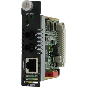 Perle C-1000-S2ST160 Gigabit Ethernet Media Converter Module - 1 x RJ-45 Network, 1 x ST Duplex Network - 10/100/1000Base-T, 1000Base-ZX - Internal