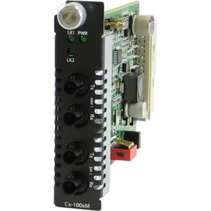 Perle C-100MM-S2ST80 Media Converter - 2 x ST Duplex Network - 100Base-ZX, 100Base-FX - Internal
