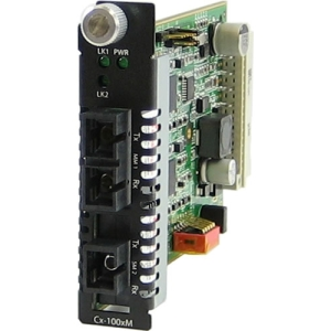 Perle C-100MM-S1SC20D Media Converter - 1 x SC Network, 1 x SC Duplex Network - 100Base-FX, 100Base-BX - Internal