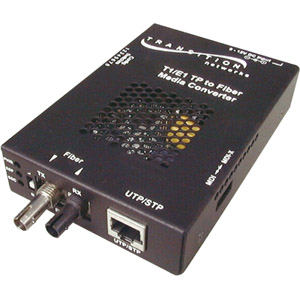 Transition Networks SSDTF1022-120 Media Converter - 1 x RJ-48 Network, 1 x ST - T1/E1 - External