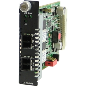 Perle C-1000MM-M2LC2 - Gigabit Ethernet Fiber to Fiber Media Converter Module - 1000Base-SX, 1000Base-LX - Internal
