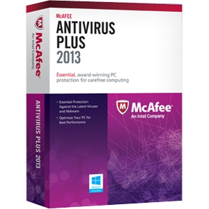 McAfee AntiVirus 2013 Plus - 3 PC - Antivirus Retail - PC - English