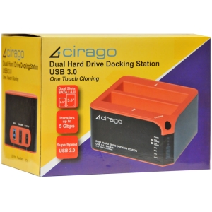 "Cirago Drive Dock - 2 x Total Bay - 2 x 2.5""/3.5"" Bay - USB 3.0"