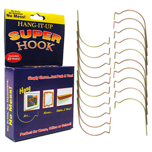 As Seen on TV - Super Hooks Heavy Duty Wall Hanger Hooks, 20 Piece Set