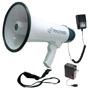 PROF DYNAMIC MEGAPHONE W/ RECORDING FUNCTION/DETACHABLE MIC