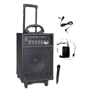 300 WATT DUAL CHANNEL WIRELESS RECHAGEABLE PORTABLE PA SYSTEM