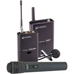 AZDEN WIRELESS UHF HAND HELD/LAVAL MIC SYSTM NIC