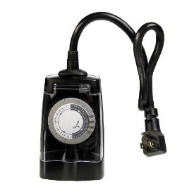 AmerTac Outdoor 2-Outlet Daily Lighting Control Mechanical Timer