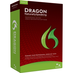 Nuance Dragon NaturallySpeaking v.12.0 Professional Edition - Complete Product - 1 User - Voice Recognition - Standard Retail - DVD-ROM - PC - English