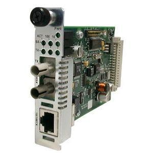 Transition Networks Point System Ethernet or Fast Ethernet Media Converter - 1 x RJ-45 , 1 x SC Duplex - 10/100Base-TX, 100Base-FX