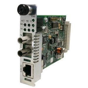 Transition Networks Point System Ethernet or Fast Ethernet Media Converter - 1 x RJ-45 , 1 x SC - 10/100Base-TX, 100Base-FX