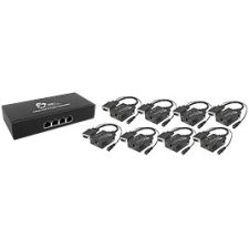 SIIG VGA 8-Display Native Extender Kit - 1 Input Device - 8 Output Device - 16 x Network (RJ-45) - 1 x VGA In